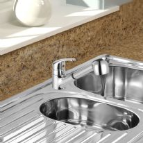 SP Neptune Pull Out Mono Mixer Sink Tap